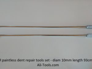 2x PDR Tools Set for Eliminating Car Dents diam 10mm, length 93cm