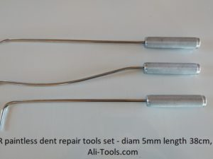 3 PDR Tools Set for Eliminating Car Dents diam 5mm, length 38cm